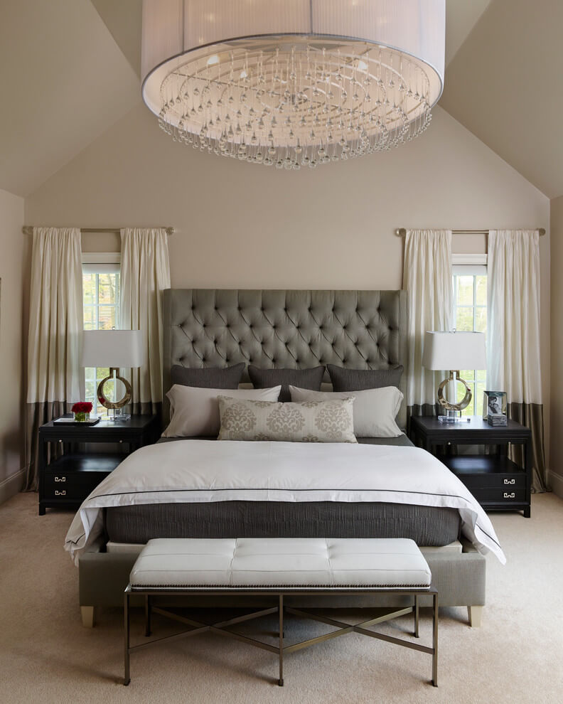 Transitional Bedroom In Soothing Beige