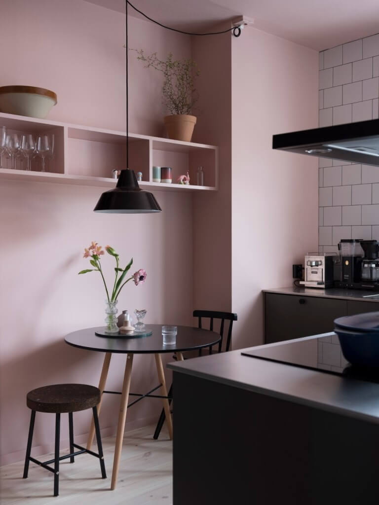 Pale Pink Kitchen Wall Color