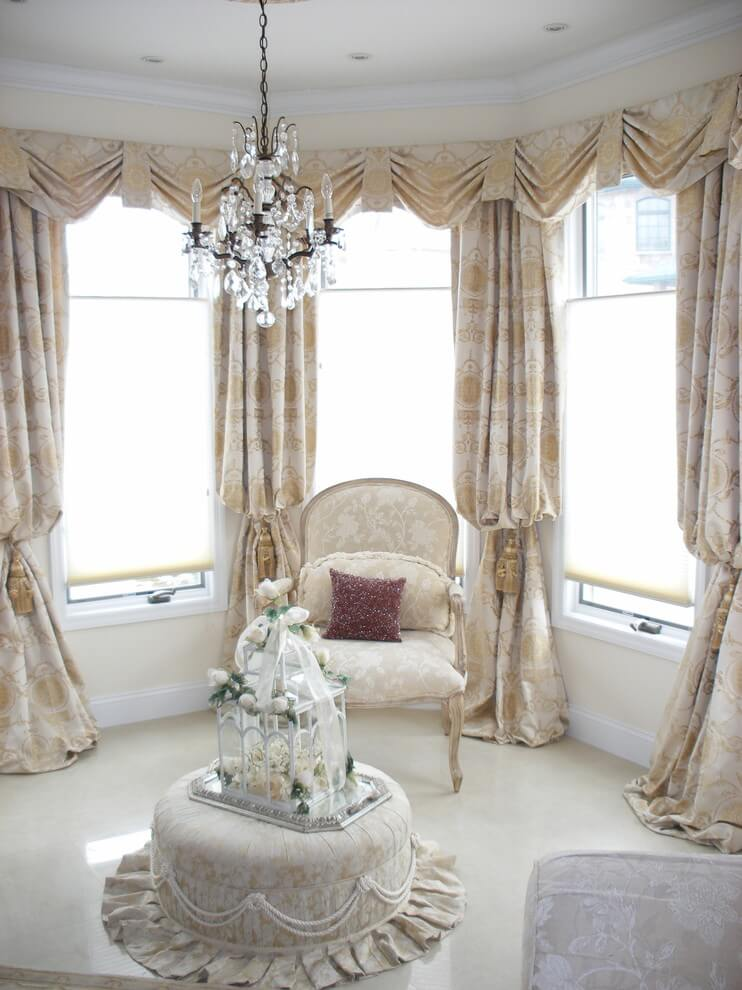 Traditional Drapery In Living Room
