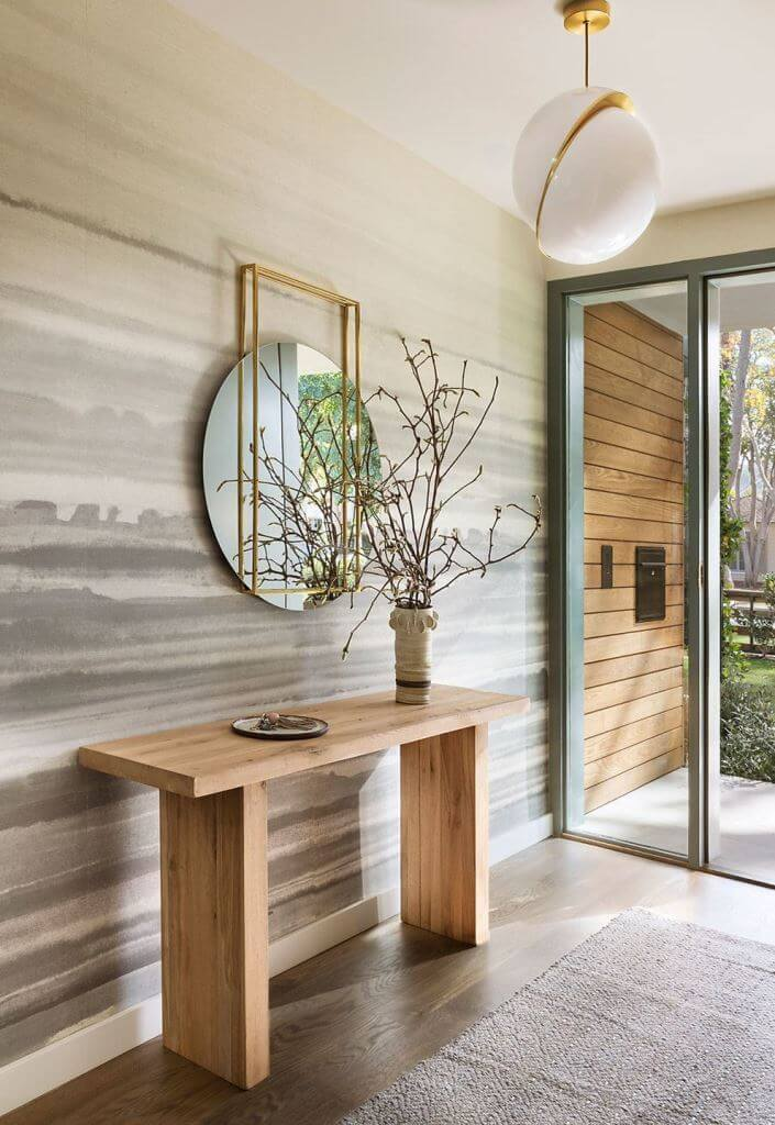 Clean Lines And Rich Textures In Entry